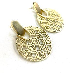 Kendra Scott   Didi Gold Filigree Earrings